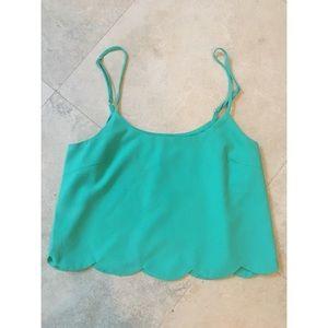 LA Hearts Bright Turquoise Tank Top